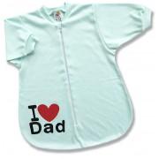 Spací vak pre bábätká - Dad, zelený veľkosť: 68