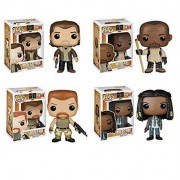 The Walking Dead Season 5 Rick Grimes, Morgan, Abraham And Michonne Pop! Vinyl Figures Set Of 4