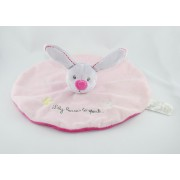 Jogystar Doudou Lapin Plat Rond Lily Learns To Speak Rose Gris Papillon