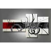 EVA JEKINS Tableau Triptyque Design Circles White