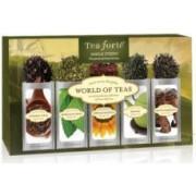 Cutie cu 15 plicuri de ceai Tea Forte colectia World of Teas