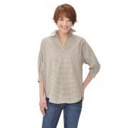 DEBUTTO 切替可愛いステキチェックシャツ【QVC】40代・50代レディースファッション