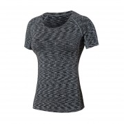 Mujeres T Camisa Correr Deportes Tops Aptitud Tees Rápido Dry