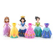 Disney Frozen Princess Sofia Elsa Belle Mermaid Action Figures Toys With Magic Clip 12Pcs/set