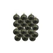 Bellatio Decorations 18x Donkergroene glazen kerstballen 6 cm glans