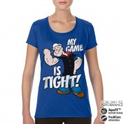 Popeye - Game Is Tight Performance Girly Tee
