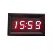 AST Works DC 12V 24V Car Motorcycle Clock Small red led Panel Meter LED Digital Clocks HOT