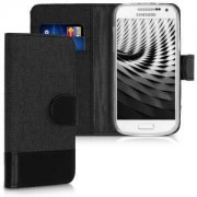 kwmobile Flipové pouzdro pro Samsung Galaxy S4 Mini - antracitová
