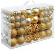 Bombki Choinkowe 6/4/3cm 100szt Zestaw Złoty