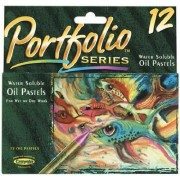 Portfolio Series Water Soluble Oil Pastels, 12 Per Pack, Assorted Colors