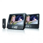Lenco MES-404 Lecteur DVD portable avec 2 écrans 9, port USB et lecteur de cartes SD/MMC
