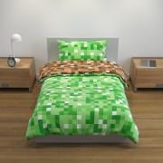 Lenjerie Copii fata dubla reversibila Minecraft 135x200mm