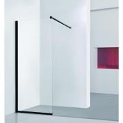 Walk-in sprchový kout LAGOS BLACK - 100 × 195 (v) cm, Hliník - černá barva HOPA