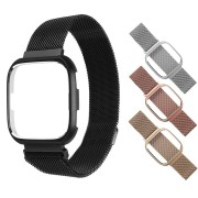 Bakeey Larger and Small Milan Stainless Steel Watch Band and Cover Case For Fitbit Versa