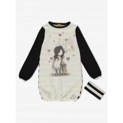 Santoro dzianinowa sukienka dziwczęca I Love You Little Rabbit - 4