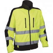 Utility Pro Men's Class 3 High Visibility Softshell Jacket with Teflon Fabric Protector - Lime/Black, XL, Model UHV427