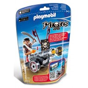 PLAYMOBIL C2 AE PLAYMOBIL Black Interactive Cannon with Raider