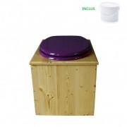 Toilette sèche - La violet Prune huilée