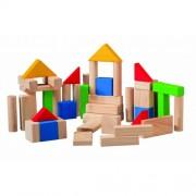 SET DE CONSTRUIT DIN LEMN CU 50 DE PIESE - PLAN TOYS (PLAN5535)