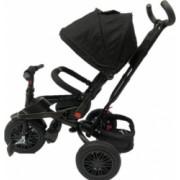 Tricicleta cu scaun reversibil Still 6-36 luni cu pozitie de somn roata plina Negru