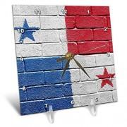 3dRose Bandera Nacional de Panama Pintado en una Pared de ladrillo PanamanianReloj de computadora, 6por 15.2cm (DC 156964_ 1)