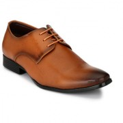 El Paso Mens Stylish Tan Synthetic Leather Alberto Taskin Formal Lace Up Shoes
