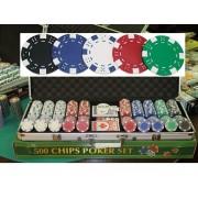 Dice 500 póker szett 11,5g számozatlan zsetonokkal