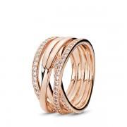 PANDORA Sparkling & Polished Lines Ring, Ring, Zirkonia, 180919CZ-52