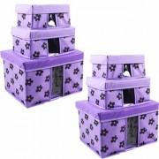 PrettyKrafts Storage Combo Pack of 6 Purple/Organizer/Storage Box/Toys Storage Box/Books Storage Box