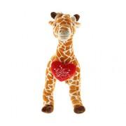 DolliBu Wild Large Giraffe I Love You Valentines Stuffed Animal - Heart Message 16 Inch Super Soft Plush (K5773 5998)