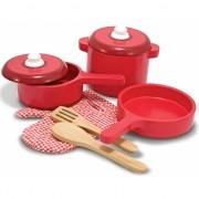 Houten speelgoed keuken accessoires