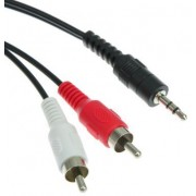 Kabel Mini Jack - 2*Cinch 5m