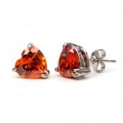 Yasmin Swarovski kristályos szív alakú fülbevaló - Piros