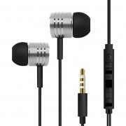 In-Ear Noise Isolating Stereo Headphones with Mic / Volume Control