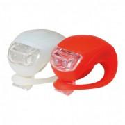 Prednje i zadnje silikonsko svetlo za bicikl sa LED diodama BV 10 (crvena/bela)