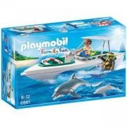 Комплект Плеймобил 6981 - Моторна лодка с екип за гмуркане, Playmobil, 2900191
