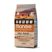 MONGE & C. SpA Monge Grain Free Mini Adult Duck with Potatoes Dry Food for Dogs Adults 2.5Kg