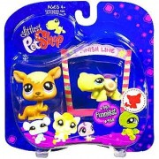 Littlest Pet Shop Assortment 'A' Series 4 Collectible Figure Kangaroo and Turtle with Finish Line