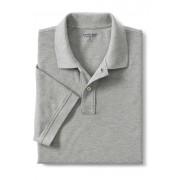 ランズエンド LANDS' END メンズ・ヘリテージ・ポロ/無地/半袖/ポロシャツ(グレーヘザー)