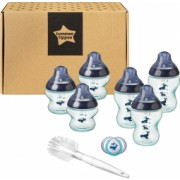 Kit biberoane nou nascut ONL Unisex Tommee Tippee 0luni+ Balenute Albastru