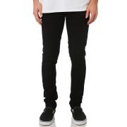 Nudi Jeans Co Lin Tight Fit Black Cotton Elastane Mens Skinny Jeans