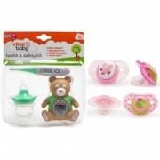 Pachet Kit ingrijire+Set 2 suzete 6+ Vital Baby Model - pentru fete