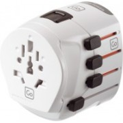 Go Travel Travel plug - Earthed Worldwide Adaptor(White)
