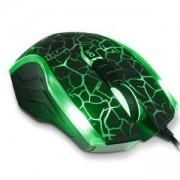 Мишкa Delux DLM-M556BU, 5D Gaming 2400 dpi, USB, Черен/ Зелен, DLM-M556BU_BLACK_GREEN