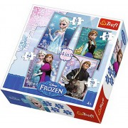 Puzzle 4 in 1 - Frozen, 207 piese