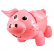Merkloos Opblaasbare varken/big roze 55 cm