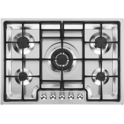 Smeg Classic PGF75-4 5 Burner Gas Hob - Stainless Steel