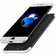Husa telefon hurtel manson de protectie 360 pentru a acoperi intreaga spate a frontului + iPhone 8, plus negru si argintiu