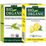 Herbal Henna Hair Colour And Lemon Fruit Peel Powder Pack Of 2