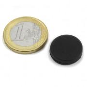 Magnet neodim disc, diametru 16,8 mm, putere 1,5 kg, ac. cauciuc